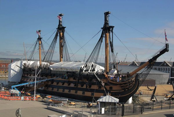 Re-Painting HMS Victory